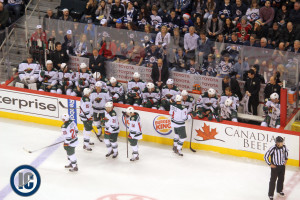 Wild bench vs. Jets (December 27, 2013)