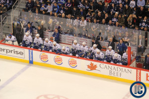 Canucks bench (Jan 31, 2014)