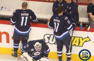 Jets wearing Rypien jersey