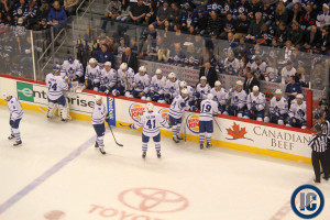 Leafs bench (January 25, 2014)
