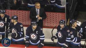 Maurice behind the bench