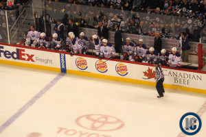 Oilers bench (January 18, 2014)