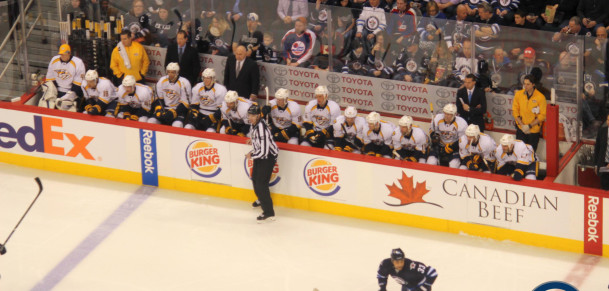 Preds bench (January 28, 2014)
