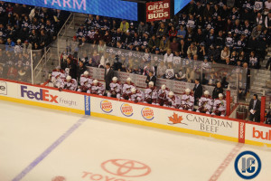 Coyotes bench (Feb 27, 2014)