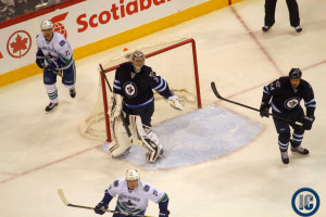 Pavelec against Canucks