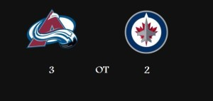 Avalanche beat Jets in OT