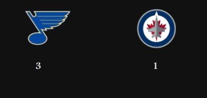 Blues beat Jets (March 17, 2014)