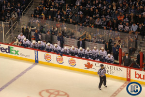 Canucks bench (March 12, 2014)