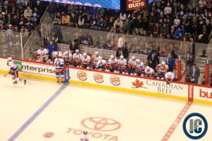 Islanders bench (March 4, 2014)