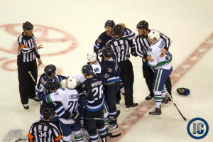 Jets and Canucks rumble