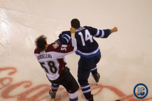 Peluso fights Bordeleau