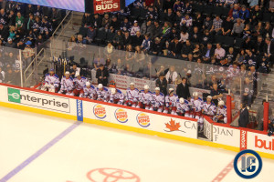 Rangers bench (March 14, 2014)