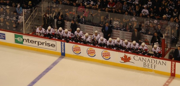 Sens bench (March 8, 2014)