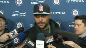 April 13, 2014 Dustin Byfuglien end of season interview