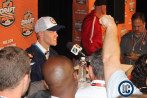 Ehlers at the podium