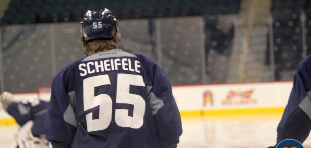 Mark Scheifele at practice
