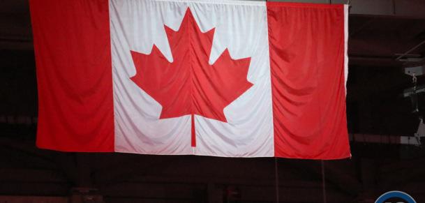 Canada flag at MTS Centre