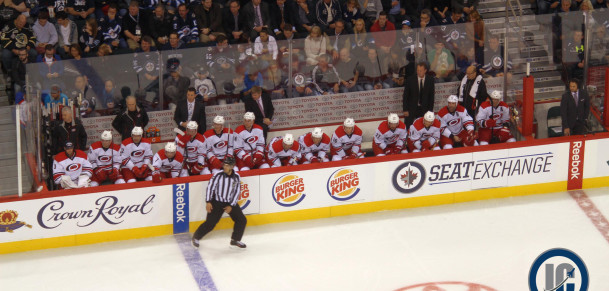 Canes bench (October 21, 2014)