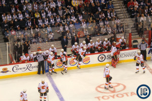 Flames bench (Oct 19, 2014)