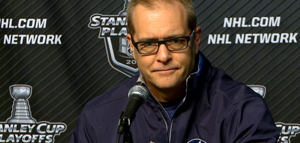 Coach Maurice before game 1