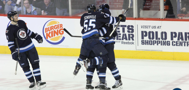 Ehlers hat trick celebration