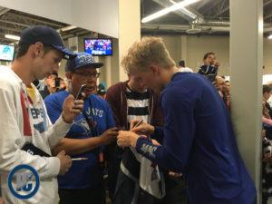 Patrik Laine signing autographs
