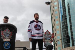 d6117cbd377 A close up look at the Winnipeg Jets Heritage Classic jersey ...