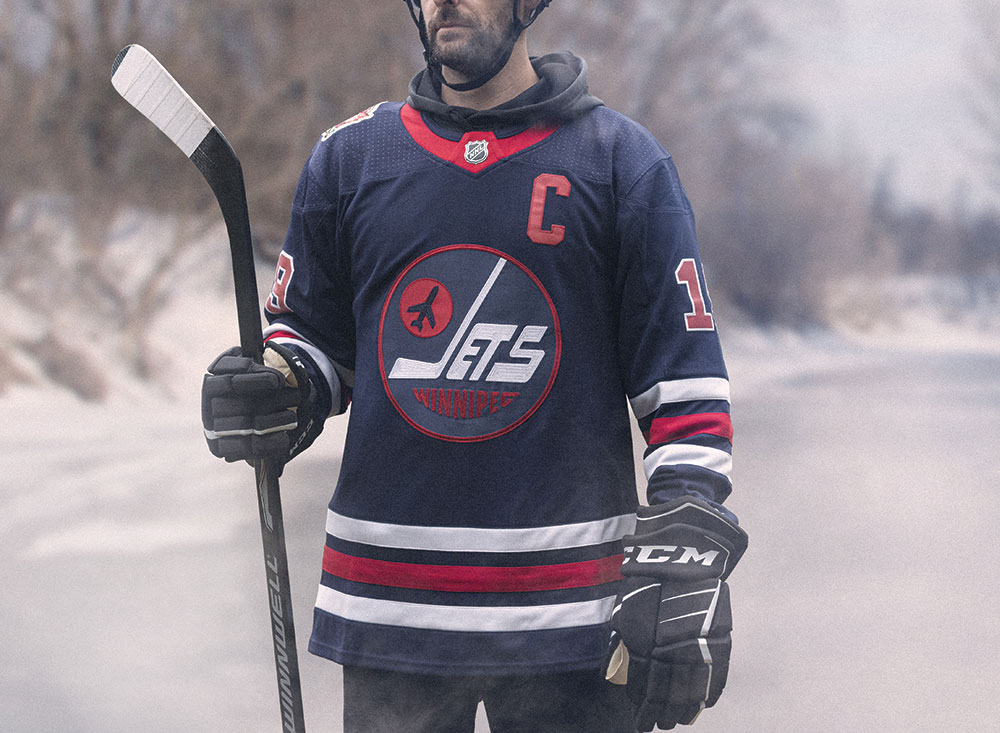 official photos fd0a1 2a38d A close up look at the Winnipeg Jets Heritage Classic jersey ...